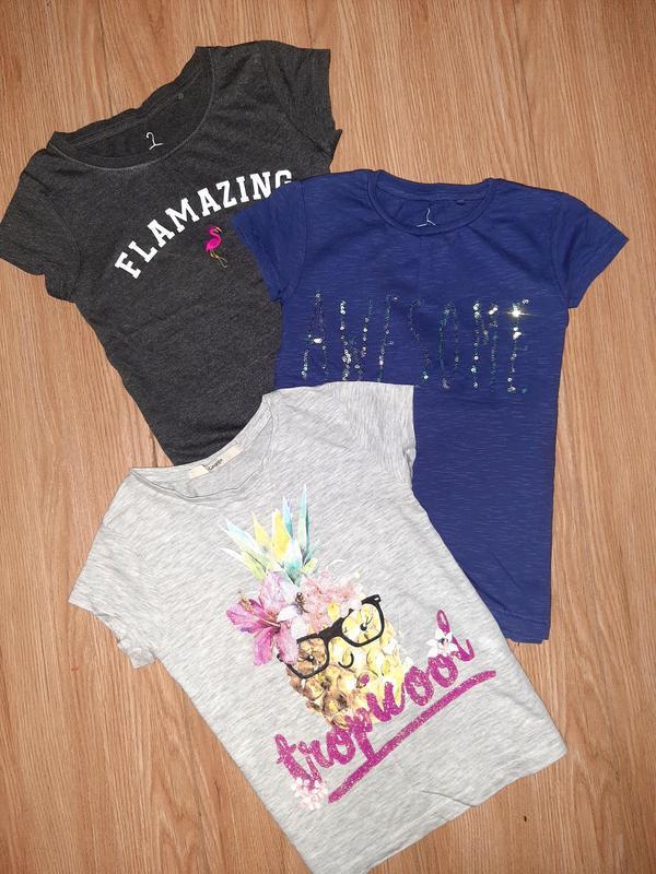 Комплектом 3 футболочки