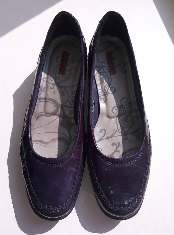 Кожаные удобные туфли Ecco (оригинал), размер 37