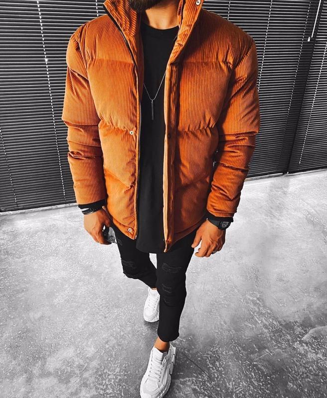 Топовый мужской теплый пуховик куртка