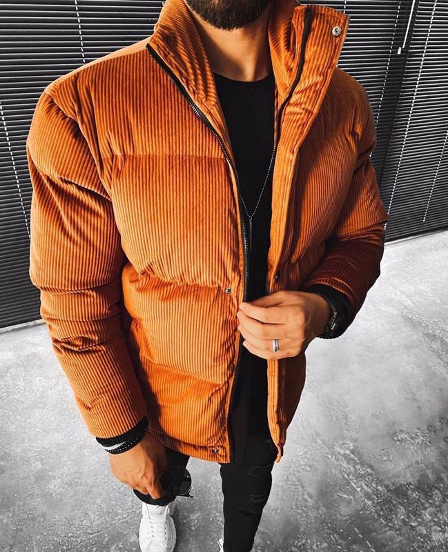Топовый мужской теплый пуховик куртка - Фото 2