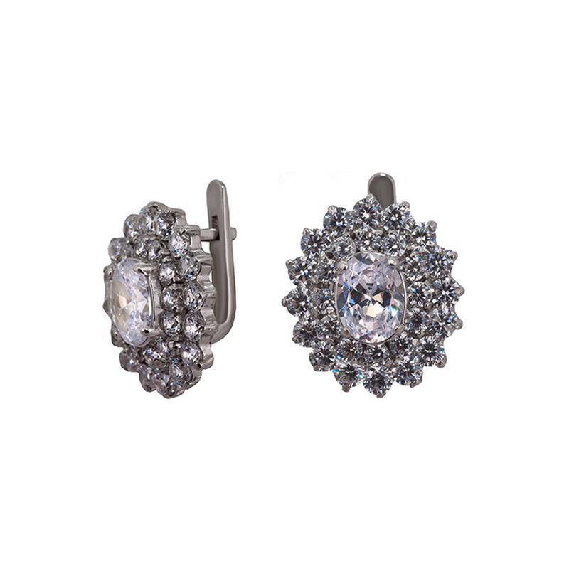 Серьги серебряные «мега малинка»