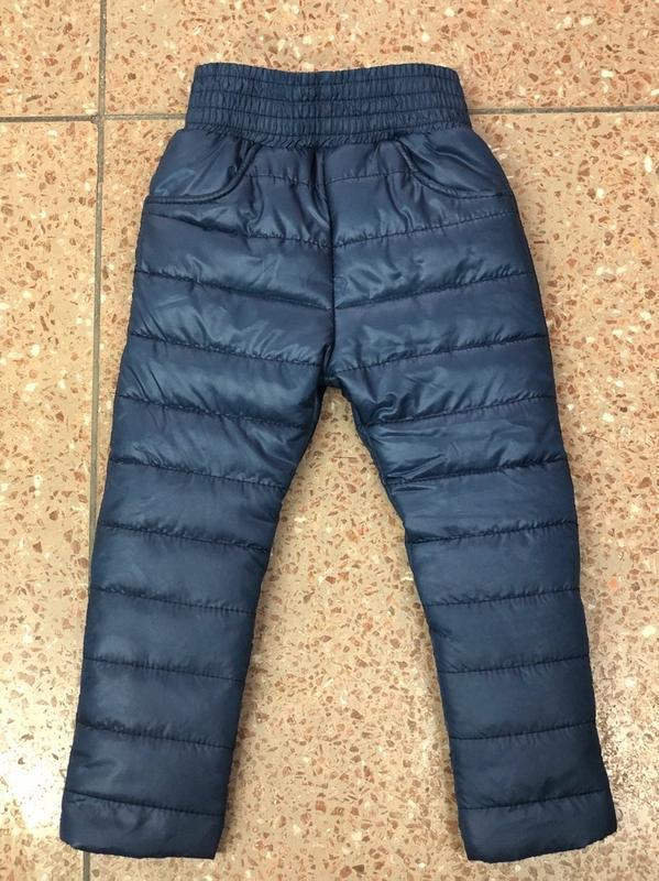 Зимние тёплые штаны, на флисе. на рост от 98 до 122 см