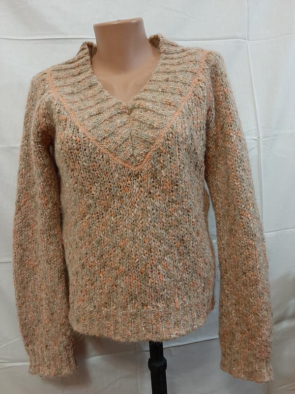 Мохеровый теплый свитер шерстяной джемпер