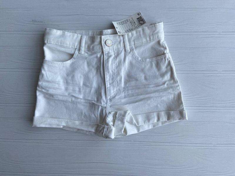 Нові білі шорти h&m розм. 140, 146, 152, 158 і 164