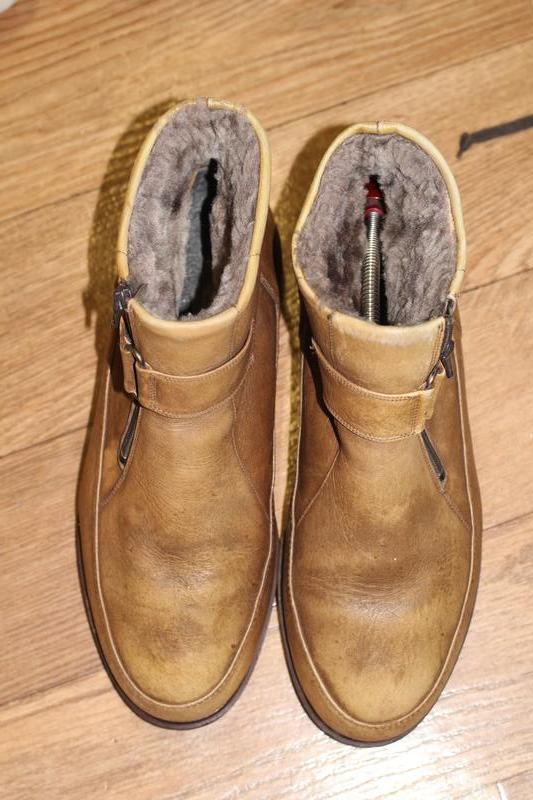 Эксклюзивные зимние кожаные ботинки на цигейке goldcrone