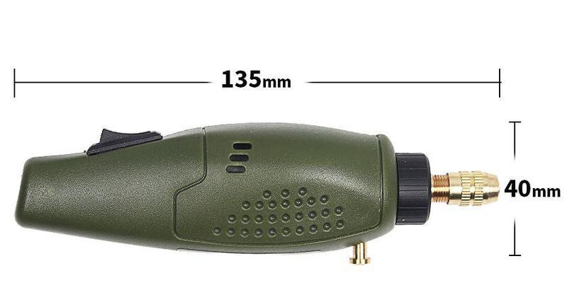 Мини дрель, бормашинка, гравер 12 В 20 Вт с комплектом насадок - Фото 5