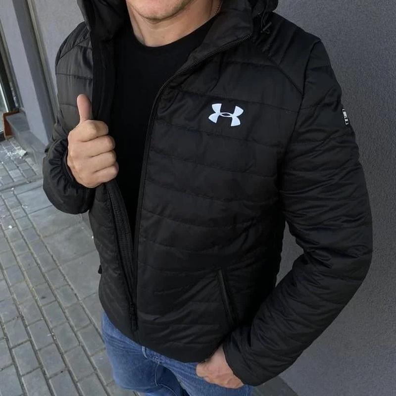 Куртка мужская демисезонная весенняя осенняя черная - Фото 2