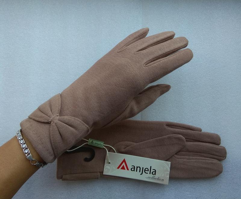 Новые стильные перчатки на флисе, бежевые