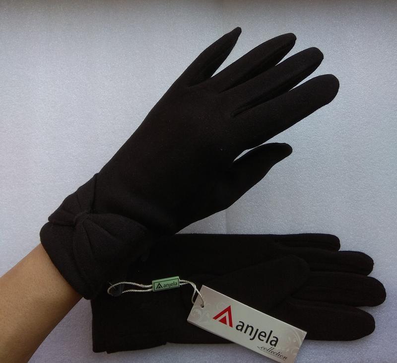 Новые стильные перчатки на флисе, черные