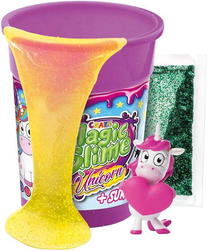 Игровой набор слайм с фигуркой magic slime galupy unicorn  cra...