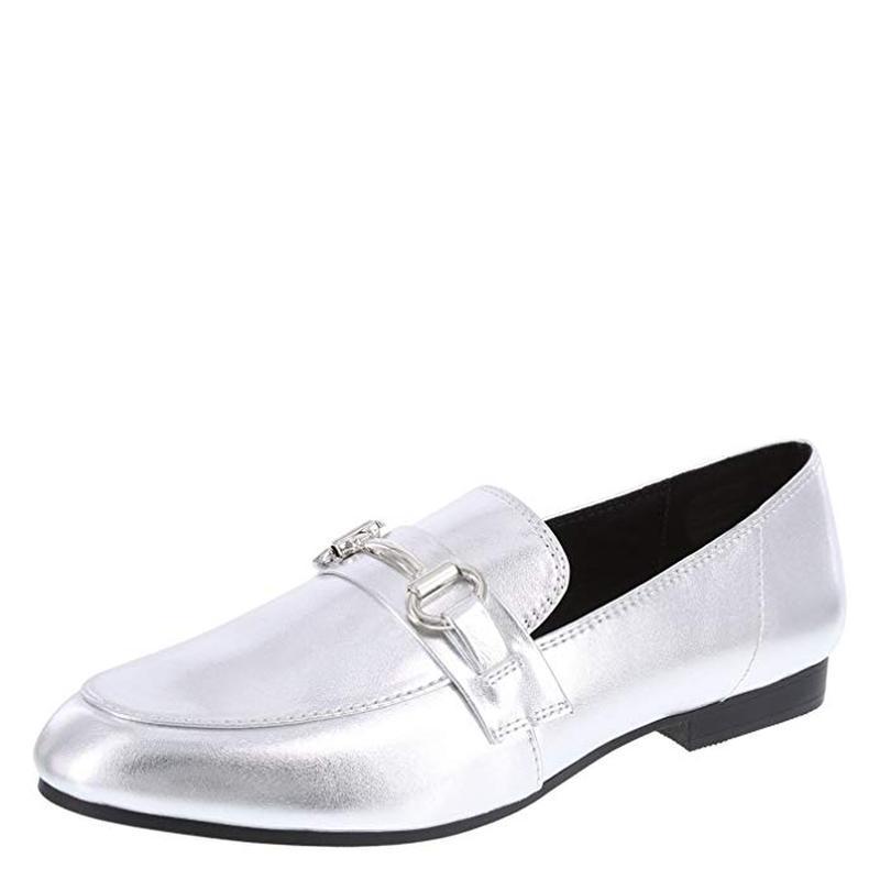 Туфли - лоферы 43-44 р серебряного цвета из сша - Фото 5