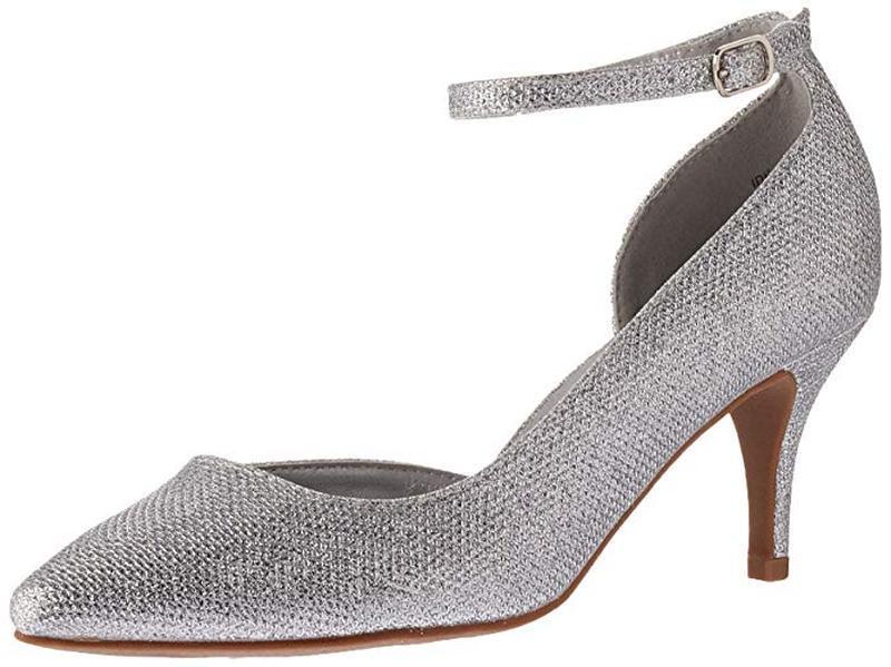 Туфли лодочки серебряные