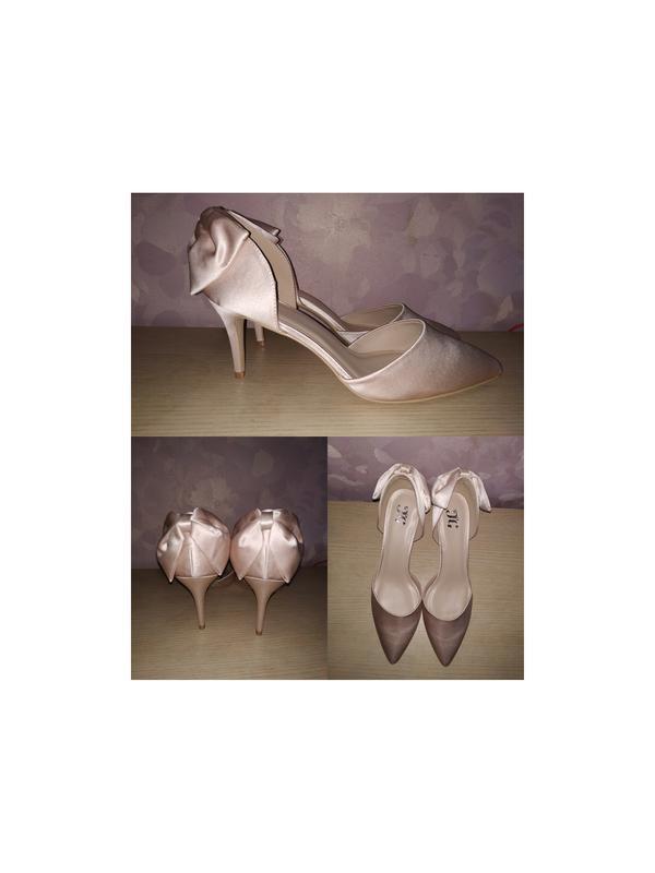 Туфли большой размер лодочки свадебные айвори свадебные