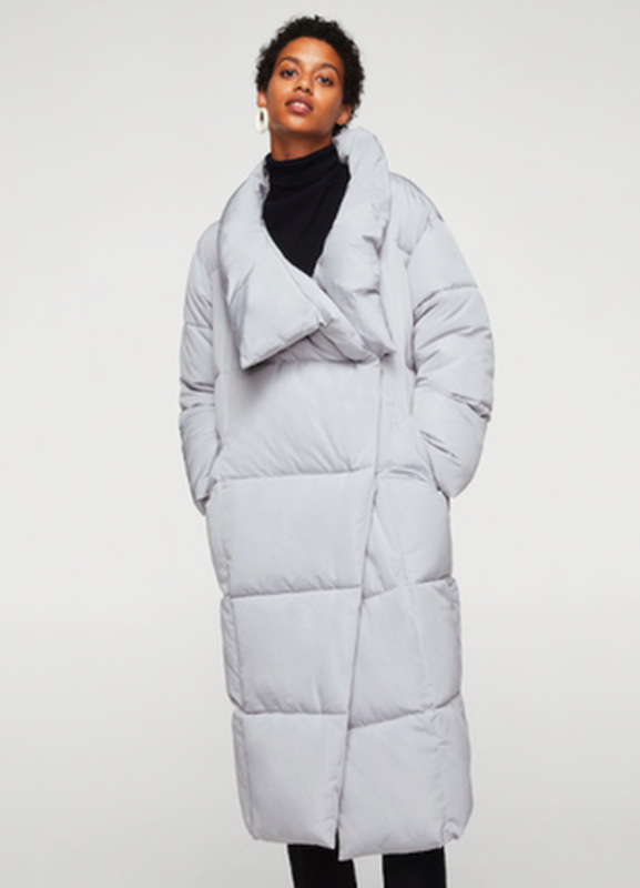 Куртка пальто пуффер холлофайбер куртка пуховик новый mango