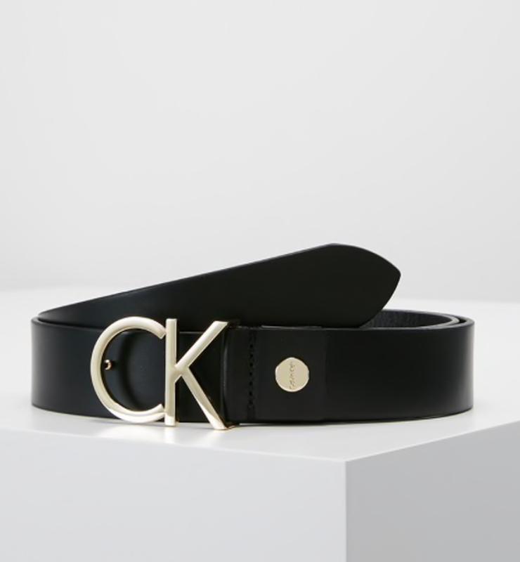 Кожаный ремень  calvin klein с лого