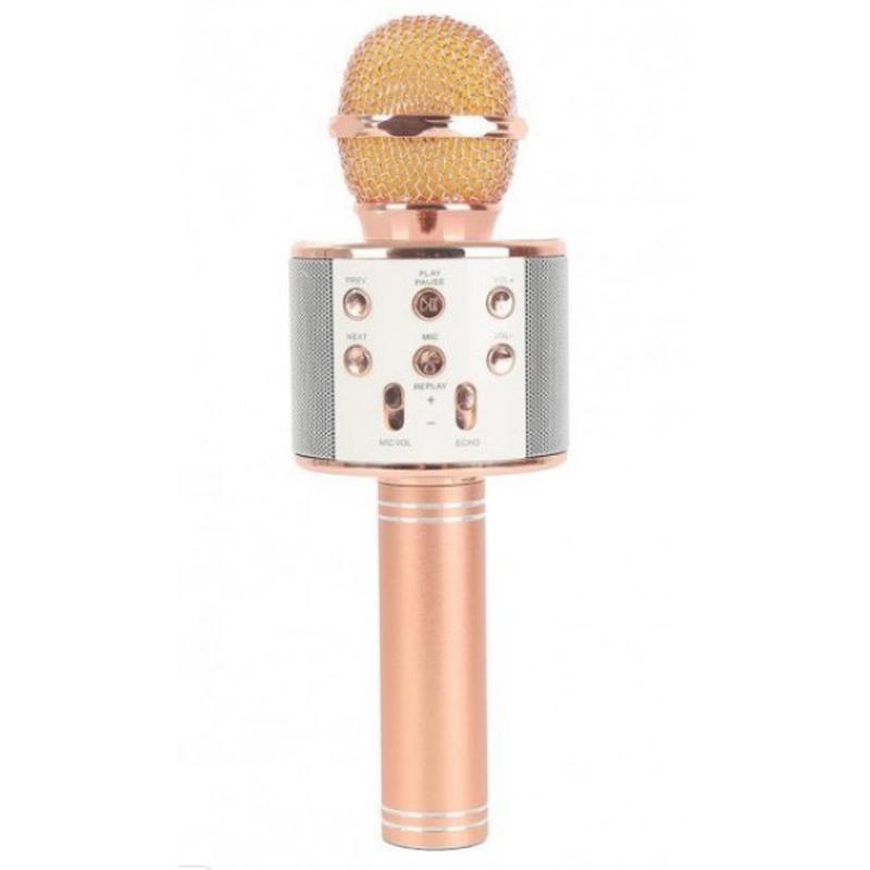 Микрофон Bluetooth караоке, блютуз колонка, FM радио Акция Все цв - Фото 4
