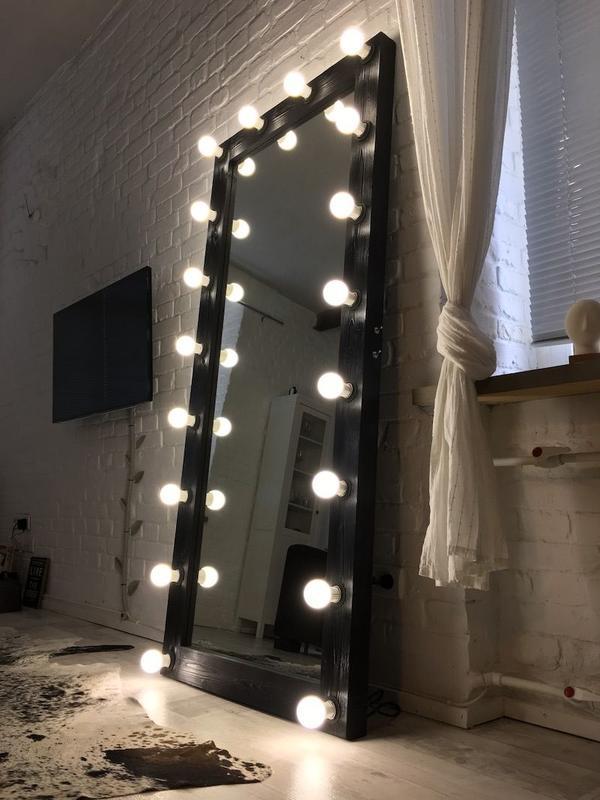 Гримерное зеркало с лампочками. Зеркало для визажа! - Фото 3