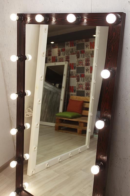 Гримерное зеркало с лампочками. Зеркало для визажа! - Фото 2