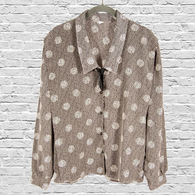 Винтажная блузка с широкими рукавами, стильная блузка с объемн...