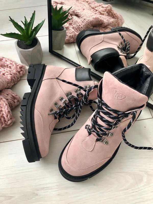 Женские замшевые ботинки - Фото 8