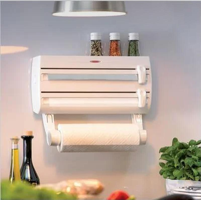 Кухонный тройной держатель Triple Paper Dispenser 3 в 1 для бумаж