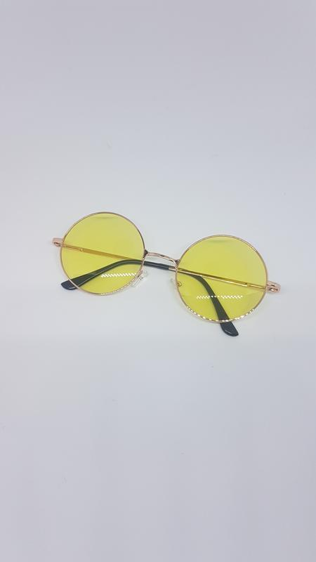 Женские солнцезащитные / имиджевые очки круглые жёлтые