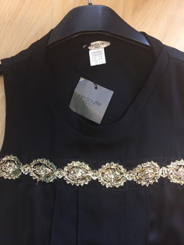 Шикарное платье расшито бисером  с франции р.л - Фото 3