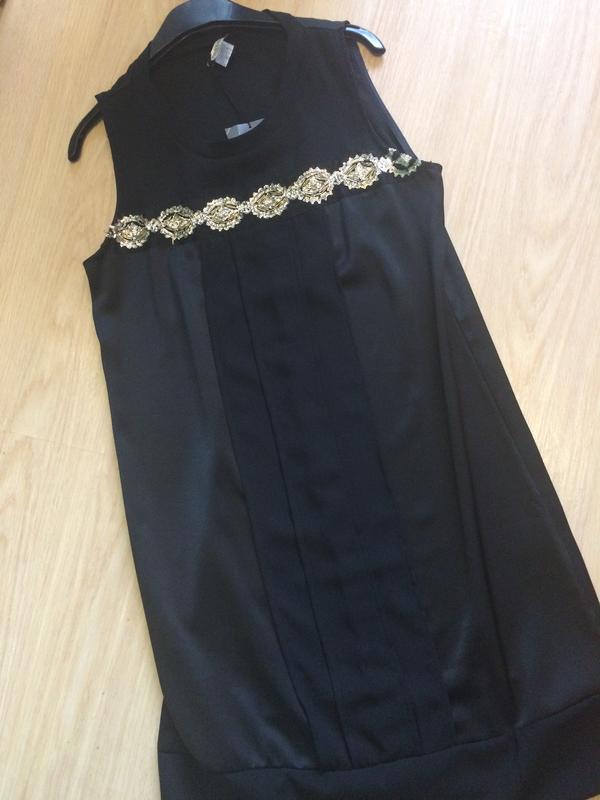 Шикарное платье расшито бисером  с франции р.л - Фото 5