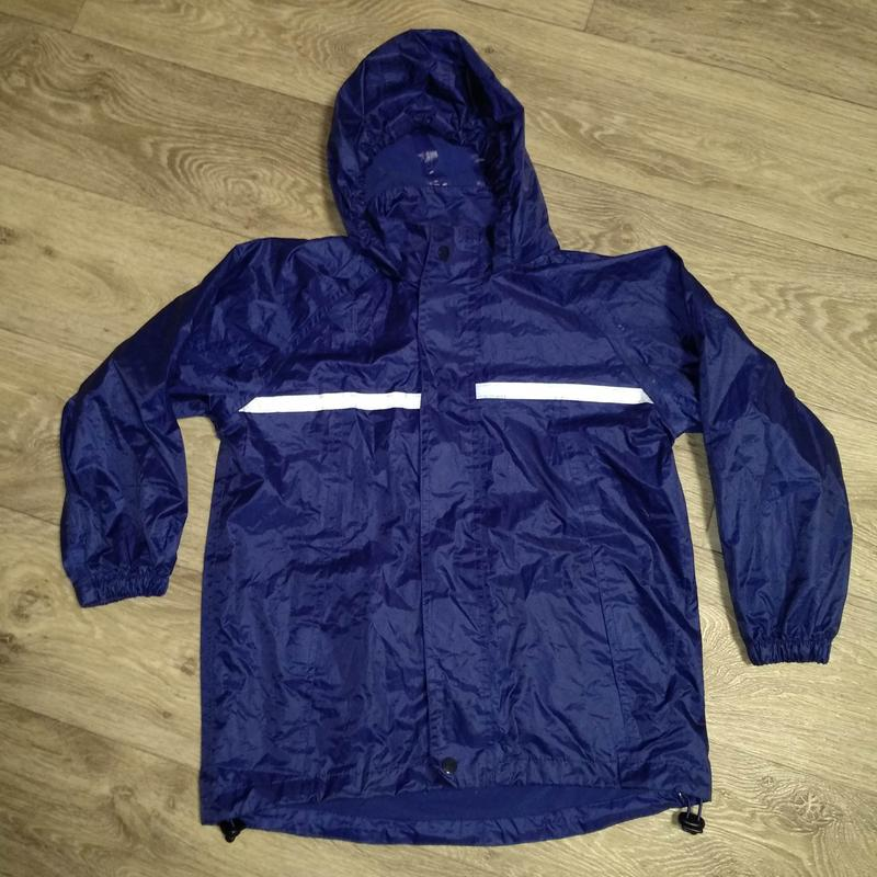 Куртка ветровка дождевик р. 122-128 см на мальчика 7-8 лет вод...