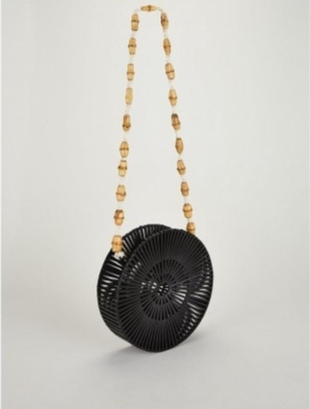 Бамбуковая сумка стиль бохо эстетика Англия