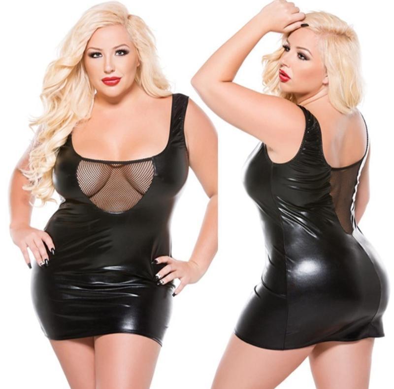 Кожаное платье большого размера. эротическое белье большого ра...