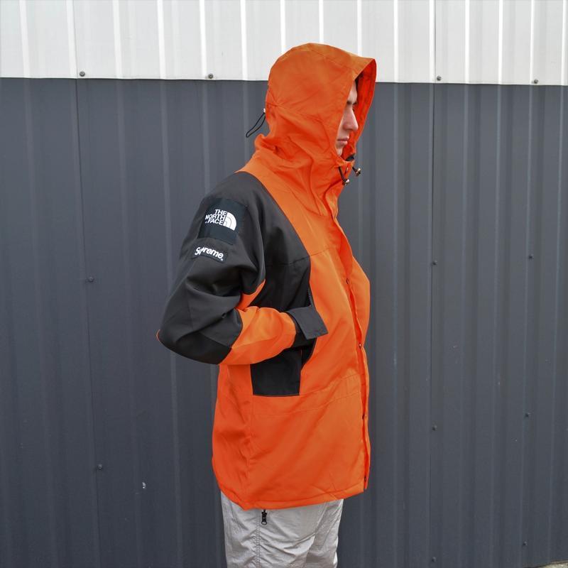 Куртка supreme the north face light orange - Фото 4