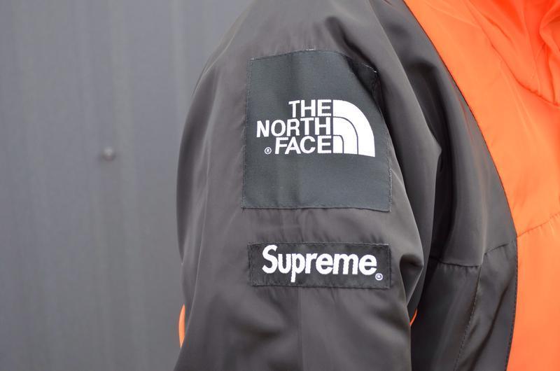 Куртка supreme the north face light orange - Фото 6