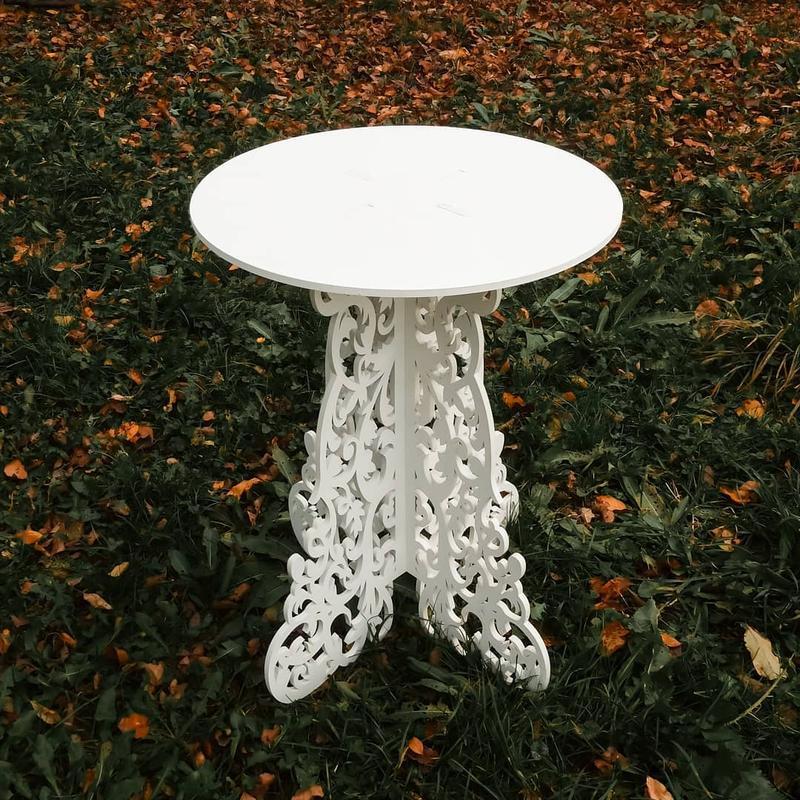 Столик ажурный свадебный деревянный стол декор весільний стіл