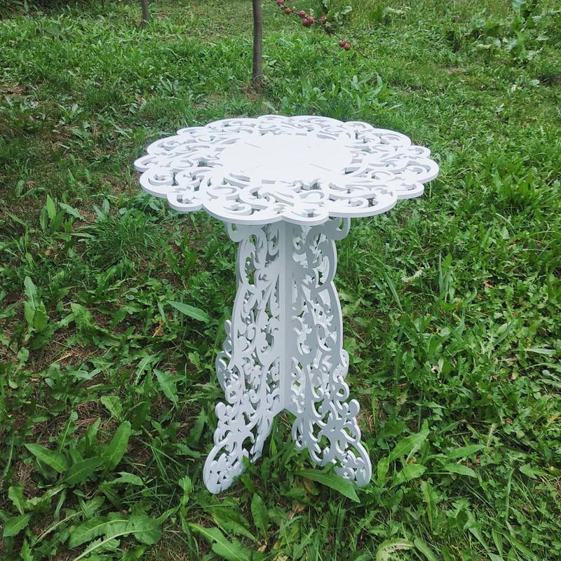 Столик ажурный свадебный деревянный стол декор весільний стіл - Фото 3