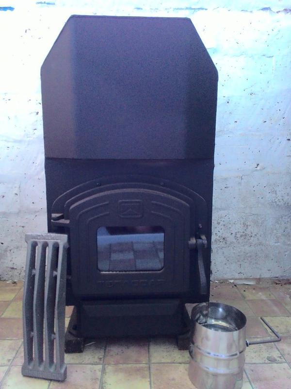 Печь Теплодар ТОП 140 отопительная варочная с чугунной дверкой