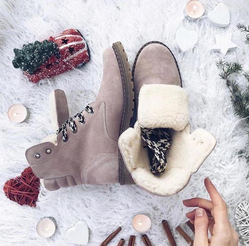 36-41 натуральные замшевые ботинки пудра / деми зима