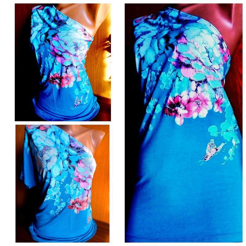 Красивая туника на одно плечо бренд oscalicia кофта блуза