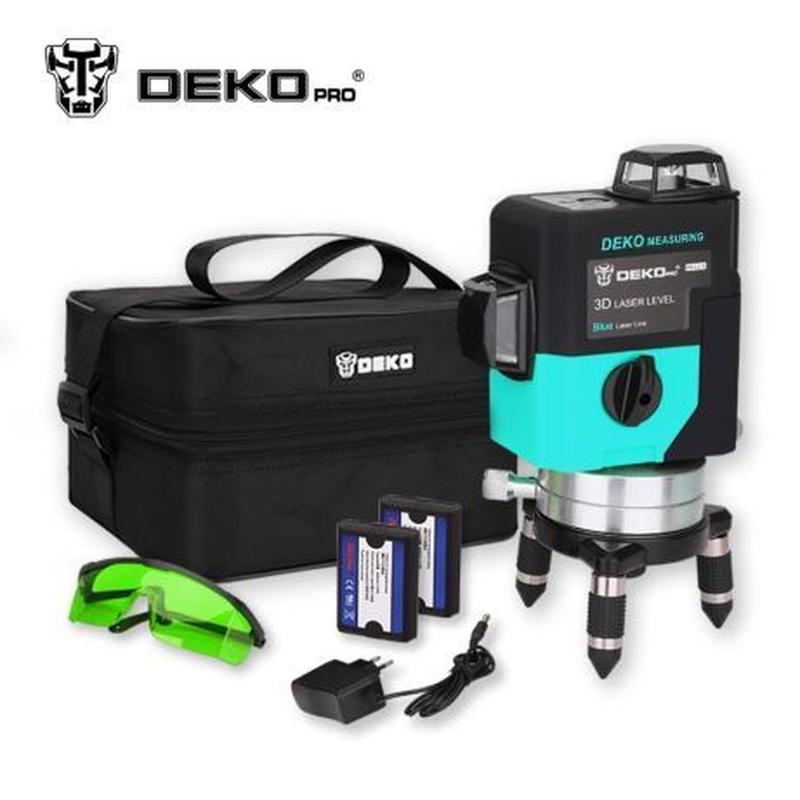 Лазерный уровень 3D DEKO LL12-HVG 12 линий зеленый луч