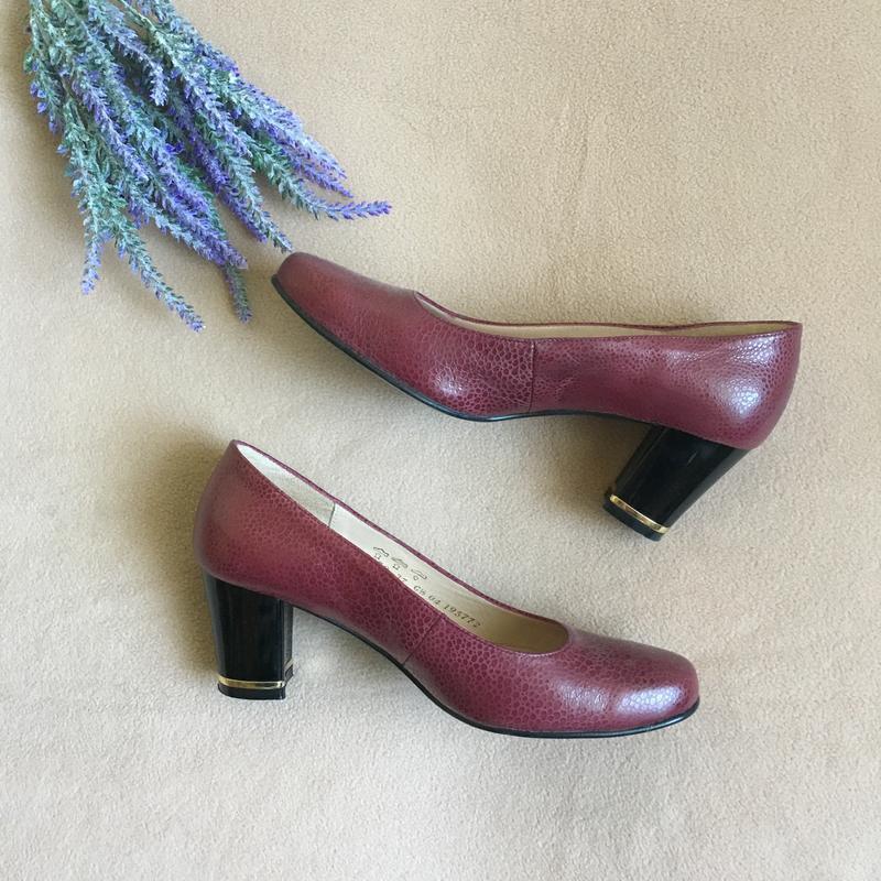 Стильные кожаные туфли натуральная кожа