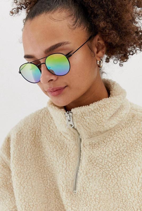 Стильные яркие очки голографик голографические солнцезащитные ...