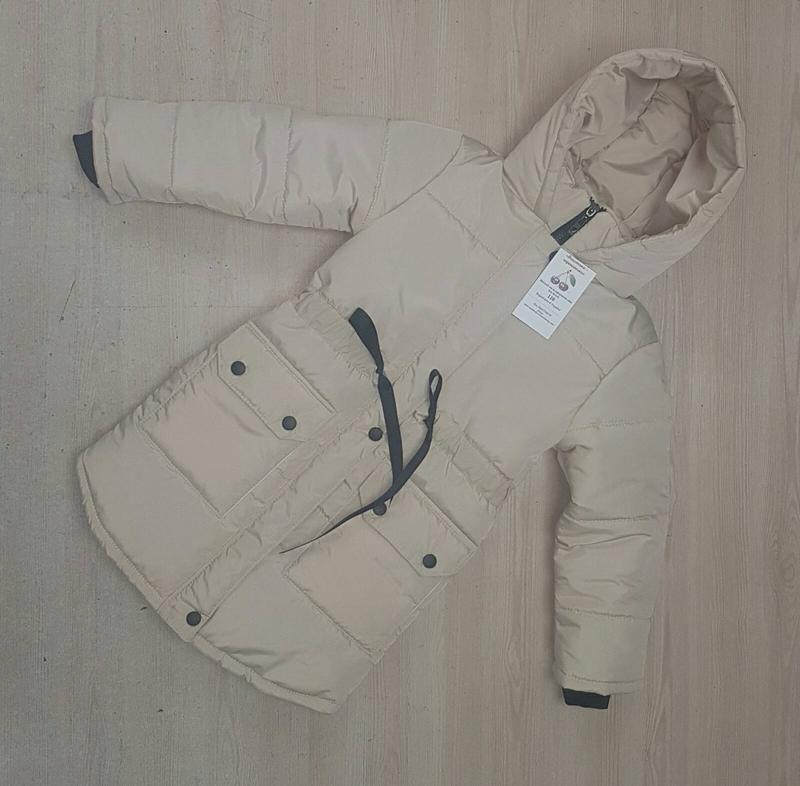Удлиненная теплая куртка для девочки