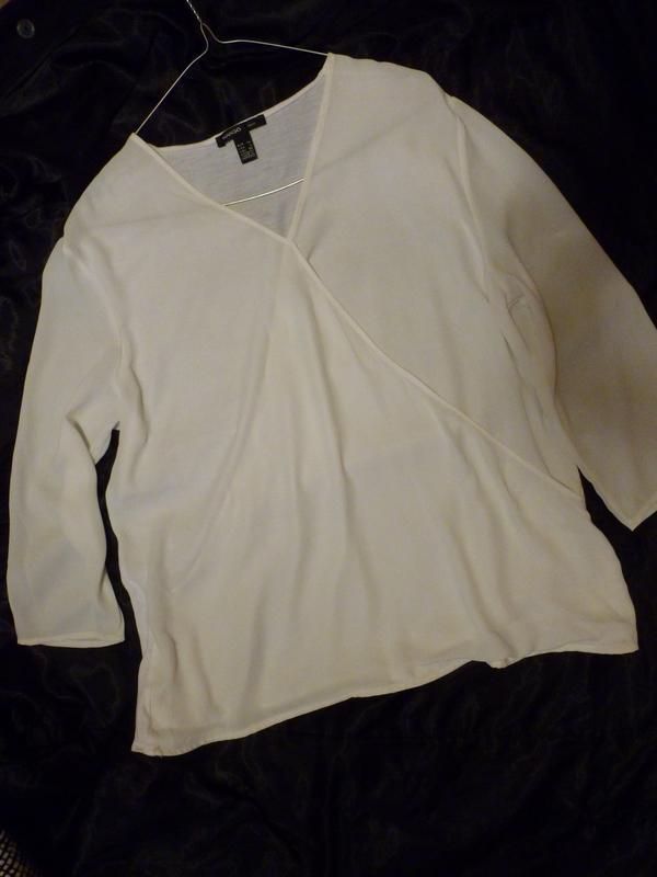 Свободная базовая блуза в стиле cos фиксированный запах mng