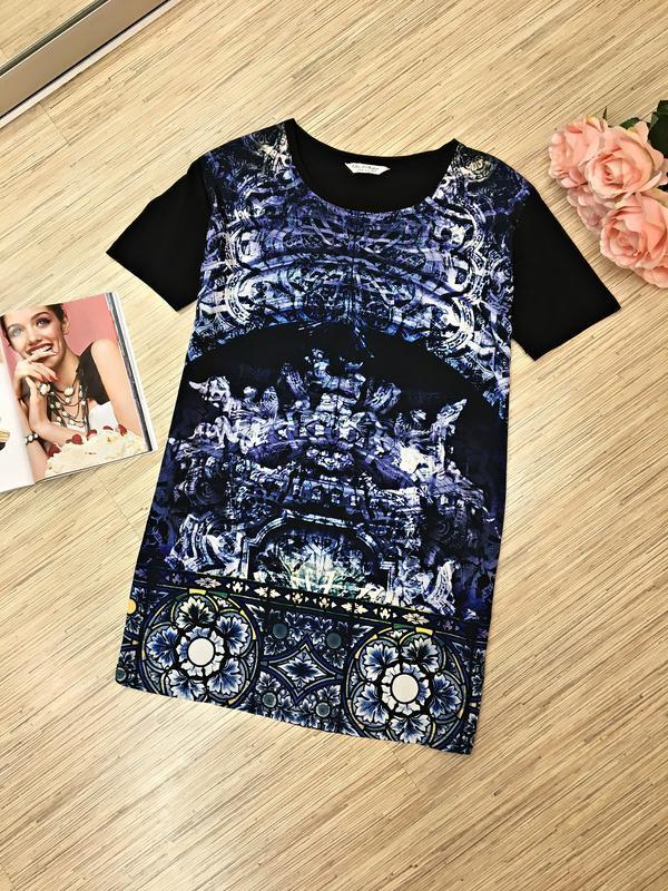 Платье футболка с ярким принтом от miss selfridge
