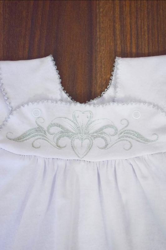 Комплект набор костюм платье для крещения крестильный - Фото 2