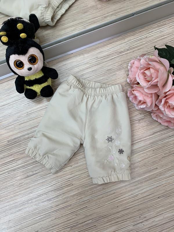 Теплые штанишки для новорожденного ребенка