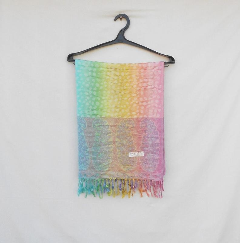 Шикарный широкий шарф палантин из пашмины