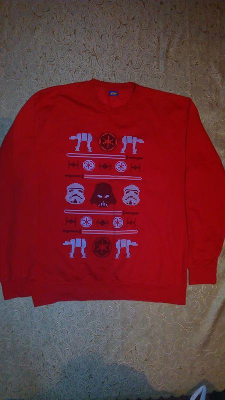 Тёплый свитшот  толстовка свитер star wars
