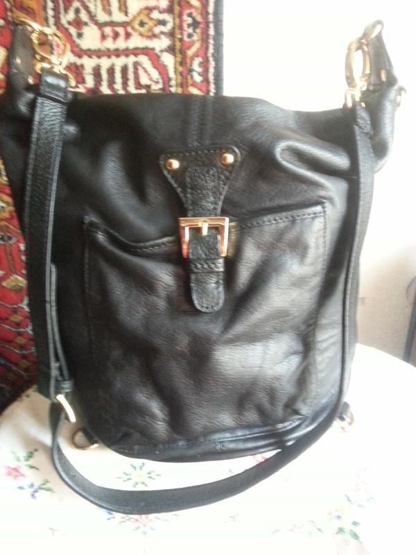 Женская кожаная сумка-рюкзак Maxx New York - Фото 2