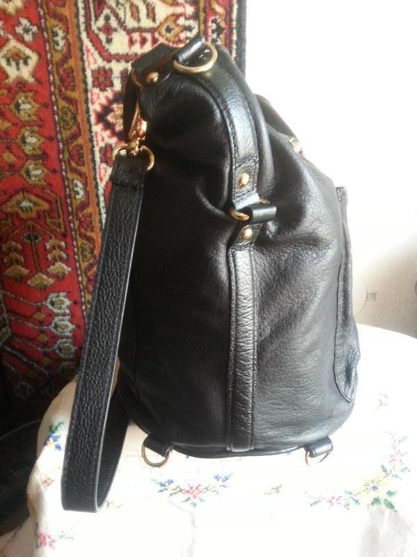 Женская кожаная сумка-рюкзак Maxx New York - Фото 3